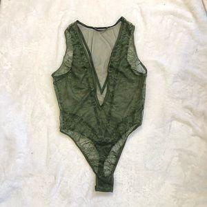 Forest Green VS Bodysuit Lingerie